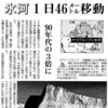 氷河流出−1日で46メートル