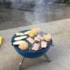 丸形BBQコンロが再度登場!ゆったりおつまみ焼きながら・・・には最高です!