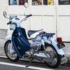 リトルカブ 水/紺 レアカラーモデル キャブレター 3速リターン