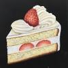 チョークアート*イチゴのショートケーキ