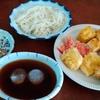 幸運な病のレシピ( 2343 )昼:素麺、だし巻き卵、天麩羅(市販品)