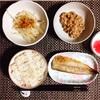 焼きサバ、もやしサラダ、小粒納豆。