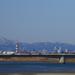 名取市の「かわまちてらす閖上」からの仙台都心の風景