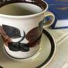 ARABIA アラビア Ruija ルイヤ コーヒーカップ&ソーサー  アラビア社ヴィンテージの定番アイテムのRuija ルイヤ です。