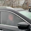 カナダ人の車が凍結した時