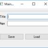 Qtで、ユーザー定義クラスのデータを保存する・読み出す方法 (Qt Designer使用)