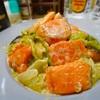 【レシピ】鮭とレタスのめんつゆマヨ炒め