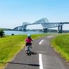 恐竜橋を眺めながら密を避けて若洲公園でサイクリング。今日は何の日 8月4日 「橋の日」