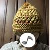 耳まですっぽり帽子編みました♪