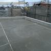 屋上の防水コンクリート押えコンクリート打設