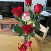 4日遅れの記念のバラ