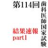 第114回歯科医師国家試験結果速報(レイ)