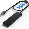 Aceele USB 3.0ハブ 60cm ケーブル PS4対応 usb ハブ 4ポート5Gbps