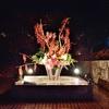 嵐山花灯路2017、生け花のライトアップ。