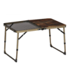 焚火のために作られた専用テーブル|クイックキャンプ ハーフメッシュテーブル