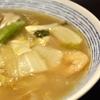 豊洲の「米花」で鶏焼き、中華風旨煮、きのこのお味噌汁。