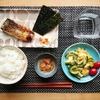 【朝ごはん献立】鮭定食ごはん ゴーヤとたまご炒め