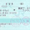 JR東日本  東京駅発行 連絡乗車券<途中下車印収集>