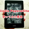 Kindle Paperwhiteを3ヶ月使ってみた感想!【メリット・デメリット】