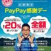 【感謝デー20%還元】PayPay1周年記念キャンペーンで購入したものや注意点【ダイソーも20%】