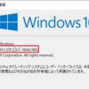 Windows10 Homeに WSL 2 をインストールする