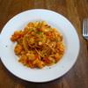 今が旬、カリフラワーのパスタ①トマトソース