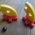5歳男子の室内遊び~ビー玉ホッケー~とパンプキンパイ