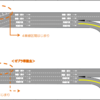 名古屋高速 丸田町JCT合流部の区画線を変更