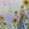 エポルの塗り絵本より「ひまわりのように」をプロヴァンス風に塗ってみた
