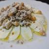 モツァレラチーズと豆腐とひよこ豆のサラダ