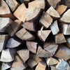 半年乾燥の薪を焚く【4】