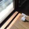 西日対策に窓用の断熱フィルムを貼る