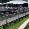 パリ郊外 セーヌ川沿いのボートレストラン『River Cafe』
