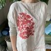 刺繍ブラウス → 刺繍バッグ
