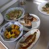 幸運な病のレシピ( 1252 )朝:身欠きニシン煮付け、ニンニクの芽炒め、かぼちゃ煮つけ、イワシテリテリ、コシアブラの味噌汁