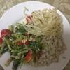 かぶ菜とパプリカの炒め物