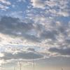 今朝のスカイツリーは雲と青空が幻想的でした!