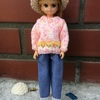 お花模様のセーター
