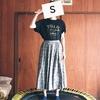 【着画あり】親子お揃い服、花柄のギャザースカート(ロング&ミニの裏地付き)を作りました