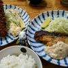 小田保でエビカキフライ定食とタラバター