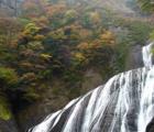 日本三大名瀑袋田の滝!紅葉の時期に出没してみる!滝と紅葉のコラボレーション