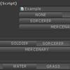 【Unity】【Odin - Inspector and Serializer】列挙型をプルダウンではなくボタンで選択できるようになる「EnumToggleButtons」属性
