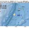 2017年10月17日 08時41分 福島県沖でM3.1の地震