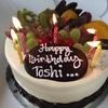 誕生日でサプライズのケーキで祝って頂く。ホームコース(グヌングリス )のありがたみを実感しました。