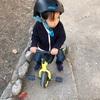 三輪車乗る時に前向いて(笑)