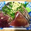🚩外食日記(277)    宮崎  「井上鯉・鮮魚店」③より、【甘海老】【鰹のタタキ】‼️