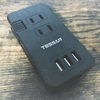 TESSAN『USB電源タップ』手のひらサイズでAC100V×3+USBポート×3の電源タップ、国内外の旅行や出張に最適。