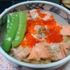 今日の晩飯 鮭はらこ飯とかぼちゃの煮物を作ってみた