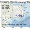 2017年07月31日 03時05分 釧路地方中南部でM2.5の地震