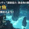 【MHW】黄金魚の場所と釣り方!重要バウンティ「調査協力:黄金魚の捕獲」